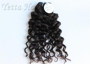 China Natural Black Brazilian Curly Weave Hair No Shedding No Damage on sale