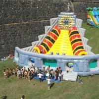 Voodoo Pyramid Large Inflatable Slides , 7m Height Kids Outdoor Slides