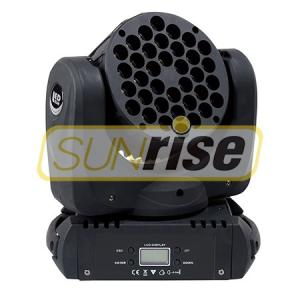 China Lightweight 160W LED Moving Head Light , 36pcs 3w Led Stage Wash Lights on sale