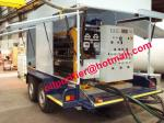 equipamento móvel do purificador de óleo do transformador do vácuo do reboque, filtragem do óleo da isolação, regenerat do óleo com o reboque da roda de carro