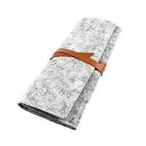China Bundle Felt Pencil Wrap Case , Wool Felt Fabric Pencil Case Cosmetic Bag on sale