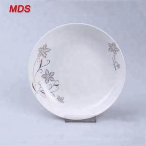 China Flower pattern round 8 inch hand made high temperature ceramic deep plate on sale