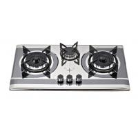 China Stainless Steel SS 3 Burner Gas Cooker With Round Enamel Grill on sale