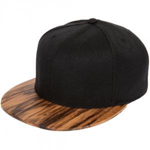 China Velcro Closure Snapback Baseball Caps Trukfit Black Wooden Leopard Snapback Hat on sale