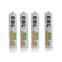 1.2 V 800mah Rechargeable Aaa Batteries , Button Top Aaa Rechargeable Cell