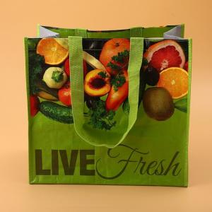China Environmental Protection Non Woven Reusable Shopping Bags D Cut CMYK Printing on sale