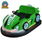 Green Bumper Cars For Toddlers / Comfortable Carnival Bumper Cars