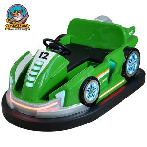 China Green Bumper Cars For Toddlers / Comfortable Carnival Bumper Cars on sale