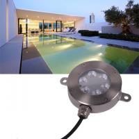 12 Volt LED Underwater Light , Stainless RGB Color Changing LED Pool Light