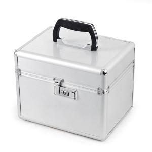 China Square Aluminum Tool Box / Portable Tool Storage Silver Aluminum Case on sale