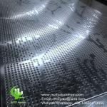 PVDF Metal aluminum perforated patterns used for building facade decoration
