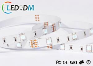 China Adhesive 3M RGB LED Strip Light , DC12V 14.4W/M RGB 5050 LED Strip on sale