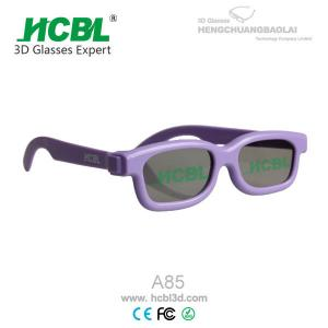 China Recyclable Purple Frame KID 3D Glasses / Theatre Cinema Eyewear on sale