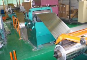 China Galvanized Steel Coil Slitting Line , 2 X 850 Hydraulic Sheet Metal Slitter Machine on sale