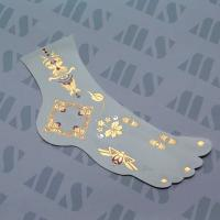 China 2015 Charming Flash Metallic Gold Jewelry Temporary Foot Tribe Tattoos on sale