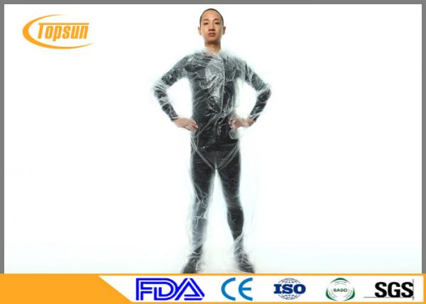 Clear Plastic Pe Disposable Sauna Suit Sweat Body Suit For Weight