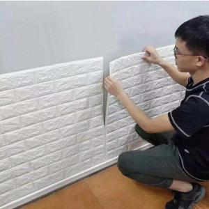 China Modern design washable mural 3d brick mural stone wall paper for living room hotel on sale