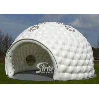 10 Meters Dia. White Big Inflatable Golf Tent With Windows On Top N Removable Door