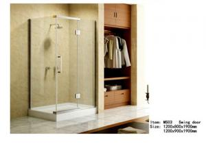 China Square Acrylic Tray Corner Shower Enclosures , Three Panels Glass Shower Enclosure on sale