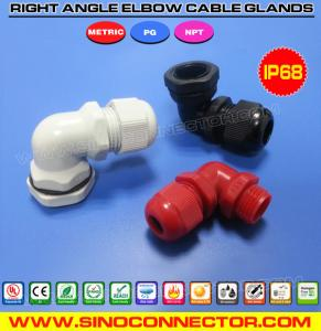 China IP68 Right Angle Plastic (Polyamide / Nylon) Cable Glands in PG, Metric & NPT threads on sale
