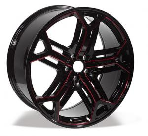 China developed star wheels 22 inch alloy 5 holes car rims with machine on sale