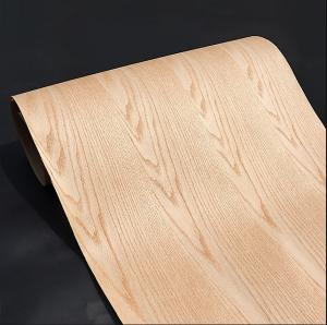 China Red Oak Kraft Paper Backed Veneer | Paper Backing Red Oak Wood Veneer Sheet on sale