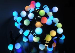 China 5 Meters LED String Lights , 50LED RGB Multicolor Cotton Ball Globe String Lights on sale