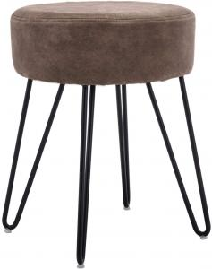 China Decorative Round Modern Ottoman Stool With Metal Legs For Living Room Bedroom on sale
