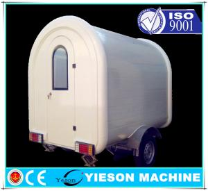 White Fiber Glass Delivering Food Truck Trailers Vehicle Commercial ...