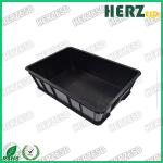 Waterproof ESD Storage Box , Conductive Tote Box With Permanent Wearable Coating Layer