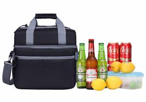 China Fashionable Insulated Beach Tote Cooler Bag / Insulated Bottle Cool Bag For Vacation on sale