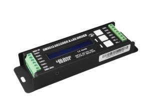 China 5000HZ DC12V - 24V DMX LED Controller , 4 Channel Decoder For RGBW LED Strip on sale