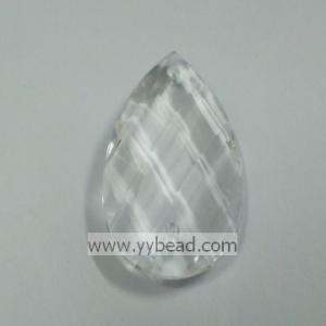 China Faceted Nice Jewelry Acrylic Clear Drop Beads---AC221 on sale