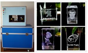 China 110KG Glass Laser Engraving Machine , Personalised 3G Glass Block Engraver on sale