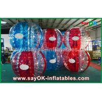 China Heat Sealed Blue And Red 0.7mm TPU Inflatable Bubble Ball For Playing on sale