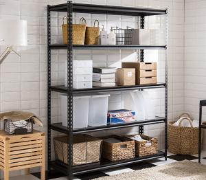 China Multi Color Industrial Metal Shelving System / Metal Garage Shelves Long Lifespan on sale