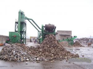 China 450 KW PSX Scrap Shredder Flattened Car Bodies Tin Plate PLC Operation on sale