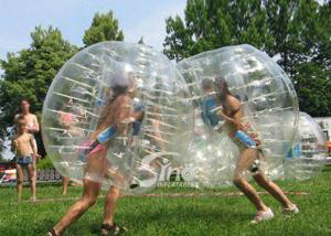 China Kids N adults transparent outdoor inflatable bumper ball made of PVC or TPU lead free material on sale