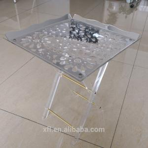 China Eye - Catching Custom Acrylic Furniture Folding Snack Table Snack Tray on sale