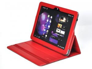 China Free Custom LOGO Red PU Leather Samsung Galaxy Tab Protective Case on sale