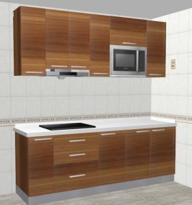 China Melamine   kitchen cabinet Quartzite worktop Buffer hinge  Thailand/Myanmar/Maldives  7.2' on sale