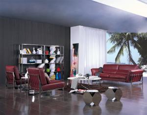 Quality Роскошная живущая комната укладывает, роскошный кожаный диван, красные кресла ко for sale