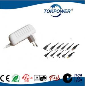 China White Power Adapter Plug 12V 24V Portable Wall Wart Power Supply IEC / EN60601 on sale