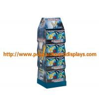 China Customized Cardboard Floor Displays Stands With Pockets For Pet Products on sale