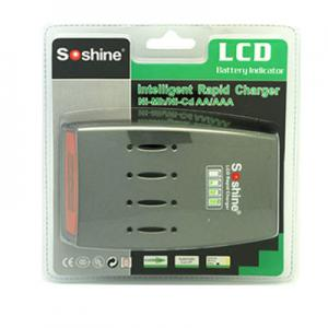 Soshine C3 LCD Quick Charger For 4pcs NiMh NiCd AA AAA Batteries