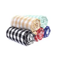 Kitchen Cotton Yarn Dyed Checks Pattern Household Waffle Tea Towel Set