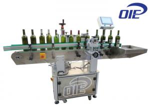 China Glass Wine Bottle Automatic Labeling Machine With Front / Back Labeling on sale