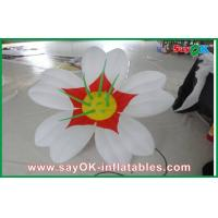 White 190T oxford cloth Giant Inflatable Decoration Flower Led Lighting For Party