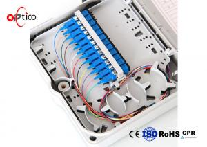 China Optional Color FTTH Distribution Box 16 Cores Splitters ABS Pole Wall Mounted on sale