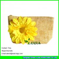 LUDA cheap purses online women  floral paper straw clutch bags